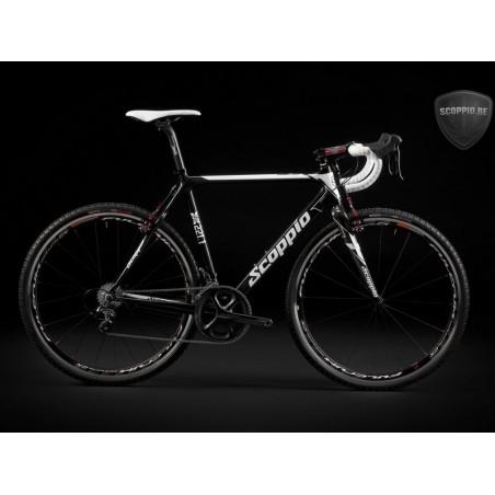 Cyclocross frame set , full-carbon  Scoppio SCX 221.1+full carbon fork-size 58cm-XL-black-white