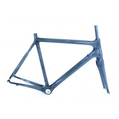Road frame set , full-carbon  Scoppio SCR 301.3+full carbon fork-size 47cm-XS-raw-colour and decals for extra cost