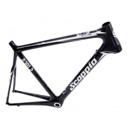 Road frame set , full-carbon  Scoppio SCR 301.2+carbon fork-size 59cm-XL-black-white