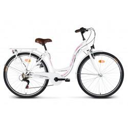 """Rower 28"""" VELLBERG CityLine TY300 6-bieg biały"""