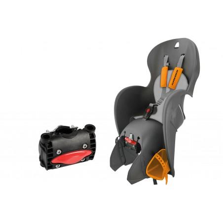 Fotelik rowerowy dla dziecka KROSS WALLAROO szaro-pomarańczowy