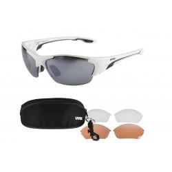 Okulary UVEX BLAZE III 3 pary soczewek - białe