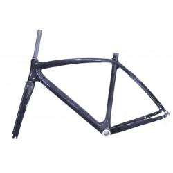 Rama rowerowa karbonowa Scoppio + widelec karbonowy  rozmiar 49cm