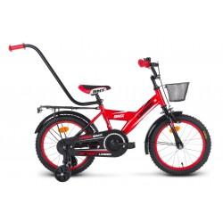 Rower 16 LIMBER BOY czerwono-czarno-biały