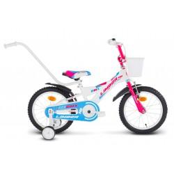 Rower 16 LIMBER GIRL biało-różowo-niebieski