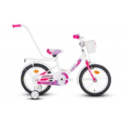 Rower 16 LIMBER GIRL Lillies biało-różowo-fioletowy