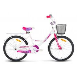 Rower 20 LIMBER GIRL Lillies biało-fiolet-różowy