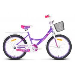 Rower 20 LIMBER GIRL Lillies fioletowo-biało-różowy