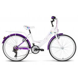 Rower 24 KANDS LAGUNA VS-1 ZWK biało-fioletowy