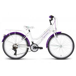 Rower 24 KANDS LAGUNA VS-2 stożek biało-fioletowy