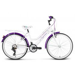 Rower 24 KANDS LAGUNA VS-2 ZWK biało-fioletowy