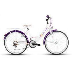 Rower 24 KANDS LAGUNA GIULIETTA biało-fioletowy