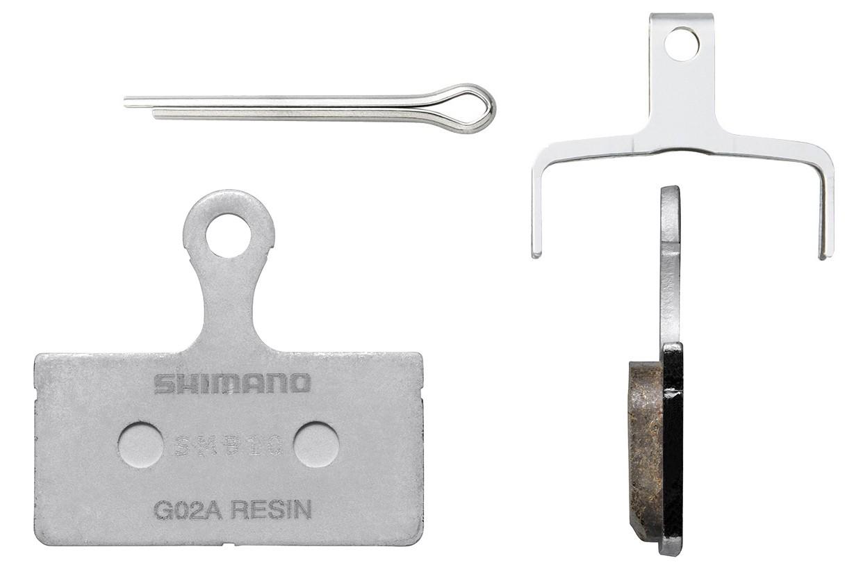 Klocki ham. tarczowego organiczne SHIMANO G02A żywiczne XT SLX XTR ALFINE