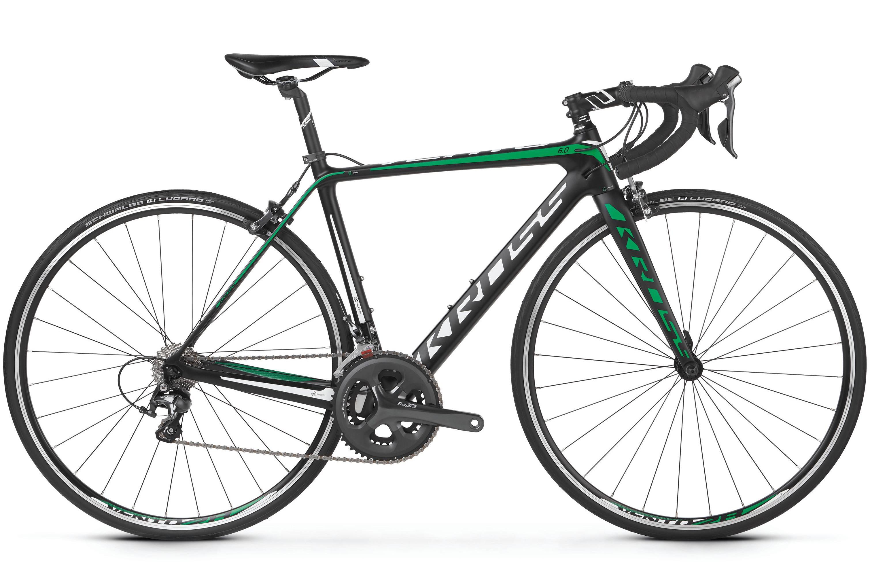 Rower 28 KROSS VENTO 6.0 L czarno-zielo-biały mat