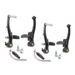 Hamulce V-brake aluminiowe Saccon 110mm, 2 koła, czarne