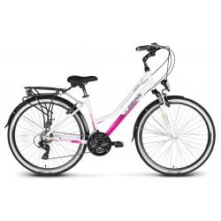 """Rower 28 VELLBERG DISCOVER 1.2 D trekk. Tourney biało-różowy poł. 17"""""""