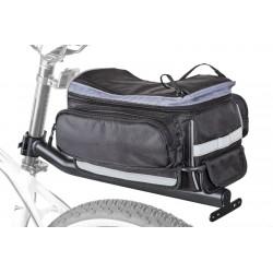 Sakwa na bagażnik AUTHOR 11L LitePack 9 X7 + bagażnik na szycę, czarna