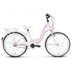 Rower 24 KANDS VITTORIA stal. 3 NEXUS różowy mat