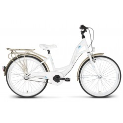 Rower 24 KANDS VITTORIA stal. 3 NEXUS biało-złoty poł.