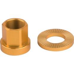 Nakrętki  M10XP1.0 19mm + podkładka 2szt złote