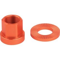 Nakrętki M14XP1.0 20mm + podkładka 2szt pomarańczowe