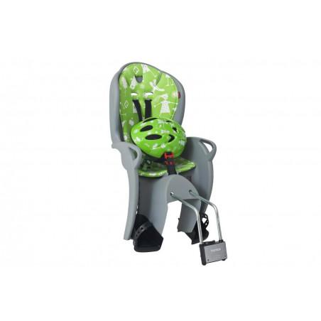 Fotelik rowerowy HAMAX KISS+ kask 2017 szaro-zielony