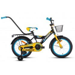 Rower 16 LIMBER BOY stal. czarno-żółto-niebieski