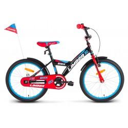 Rower 20 LIMBER BOY stal. czarno-czerwono-niebieski