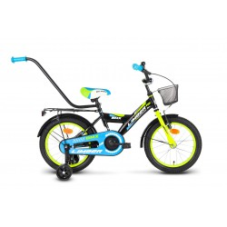 Rower 16 LIMBER BOY stal. czarno-ziel-niebieski
