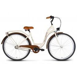 Rower 28 VELLBERG Madame NEXUS 3 biegi kremowy + brązy