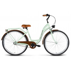 Rower 26 VELLBERG Madame NEXUS 3 biegi pistacja + brązy