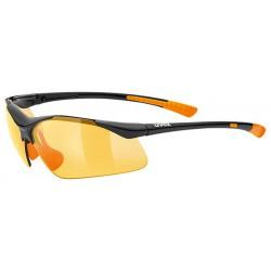 Okulary UVEX Sportstyle 223 - czarno-pomarańczowe S1