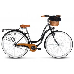 Rower 28 VELLBERG MyWay stal. 3 biegi NEXUS, czarny mat + KOSZYK WIKLINOWY