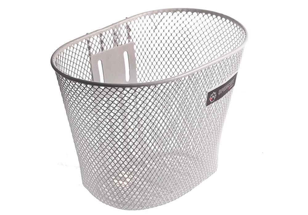 Koszyk na kierownicę dziecięcy siatka SPENCER metal. biały