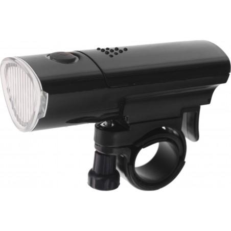 Lampa przednia latarka 3 LED, 3F, JY-369C czarna + baterie