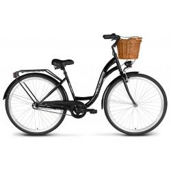 Rower 28 VELLBERG Madame NEXUS 3 biegi czarny+czarny + KOSZYK WIKLINOWY