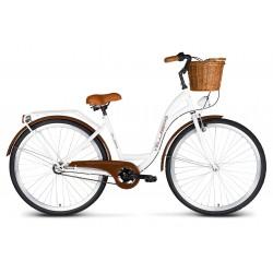 Rower 28 VELLBERG Madame NEXUS 3 biegi biały + brązy + KOSZYK WIKLINOWY