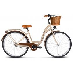 Rower 26 VELLBERG Madame NEXUS 3 biegi kawowy+brązy + koszyk