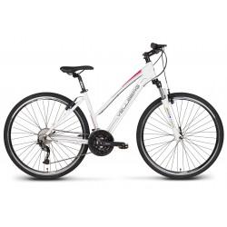"""Rower 28 VELLBERG EXPLORER 3.2 D cross ALIVIO biało-różowy mat. 19"""""""