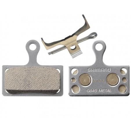 Klocki hamulca tarczowego SHIMANO G04S metaliczne XT SLX Deore