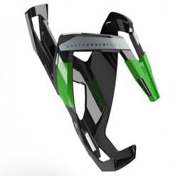 Koszyk bidonu tworzywo ELITE CUSTOM RACE PLUS czarno-zielony