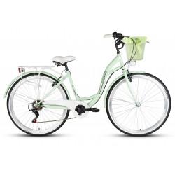 Rower 28 VELLBERG HAVANA stal. TY-300 7 bieg, miętowy Koszyk