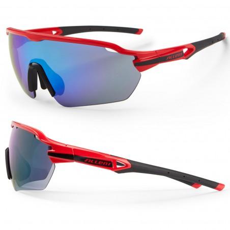 Okulary ACCENT Reflex czerwono-czarne lustrzane soczewki 2019