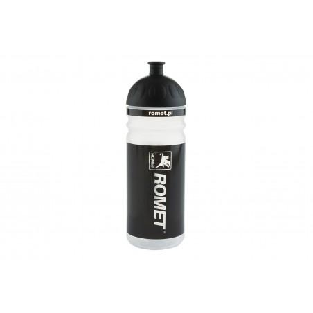 Bidon 0,7L  przeżroczysto-czarny logo ROMET