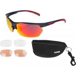Okulary UVEX Sportstyle 114 - czarno-pomarańczowe