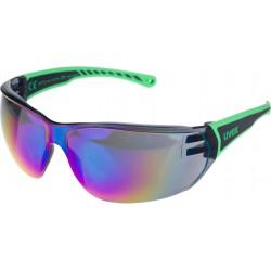 Okulary UVEX Sportstyle 204 - czarno-zielone