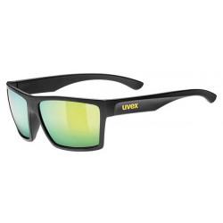 Okulary UVEX LGL 29 czarne mat, zielone szkła