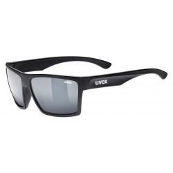 Okulary UVEX LGL 29 czarne mat, srebrne szkła