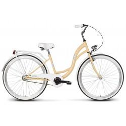 Rower 26 VELLBERG LAVENDER VELO, ciemno kremowy +biały