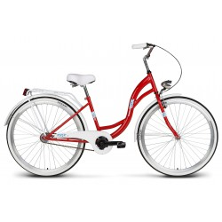 Rower 26 VELLBERG LAVENDER VELO, czerwony +biały